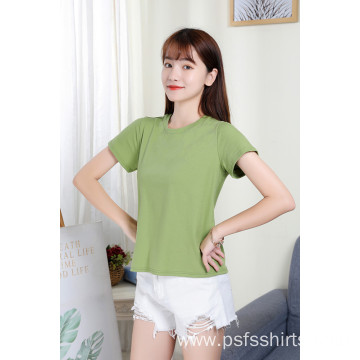 Women Short Sleeves with Round Neck